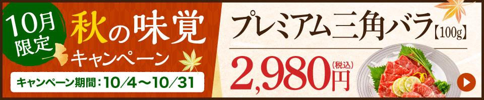 秋の味覚キャンペーン プレミアム三角バラ